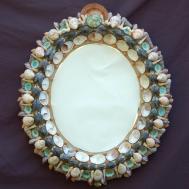 Home Decor Shell Mirrors