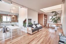 Home Designing White Wood House Stylish