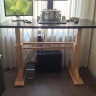 Homemade Standing Desk Showcases Creative Idea Helps