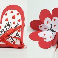 Homemade Valentine Card Diy Accordion Flip