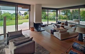 House Pedralbes Bcarquitectos Living Room Among Wooden