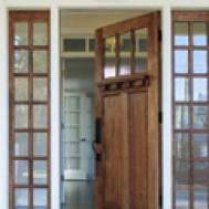 Howling Doors Add Elegance Mobile Home Exterior