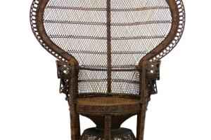 Iconic Rattan Peacock Chair 1970s 1stdibs