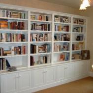 Ideas Large Wall Built Bookshelves