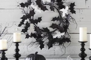 Ideas Stylish Black White Halloween Decorations