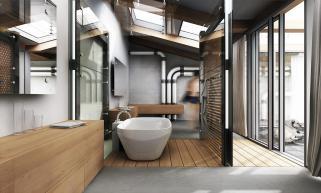 Industrial Bathroom Pivotech
