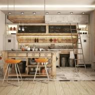Industrial Kitchen Designs Applied Fashionable Decor