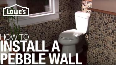 Install Pebble Tile Accent Wall Installation