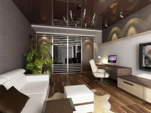 Interior Contemporary Design Studio Apartment