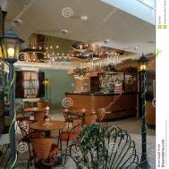 Interior Cozy Cafe Royalty Stock Photography