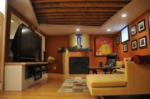 Interior Design Cool Modern Basement Remodeling Ideas