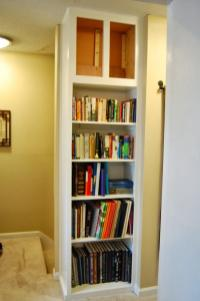 Interior Tall Diy Built Bookcase Front French