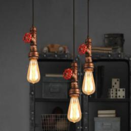 Iron Loft Retro Diy Industrial Pipe Vintage Ceiling Light