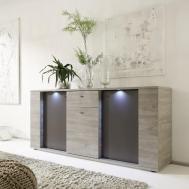 Italian Contemporary Sideboard Buffet Led Lights