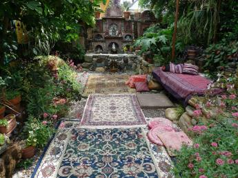 Jeffrey Bale World Gardens Building Pebble Mosaic