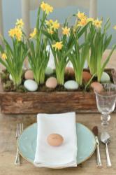 Jenny Steffens Hobick Easter Egg Hunt Centerpiece Blue