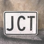 Jtc Metal Road Sign Black White Wall Hanging Garden Decor
