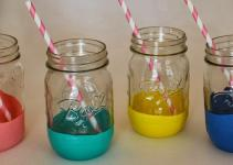 Kate Levi Diy Balloon Dipped Mason Jars