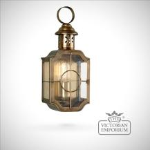 Kensington Wall Lantern Antique Brass Outdoor Lights