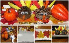 Kids Diy Thanksgiving Centerpiece Heart Family