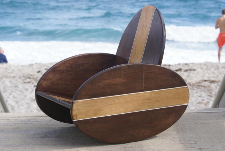 Kids Vintage Surfboard Rocking Chair Room
