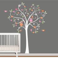Kids Wall Decals Nursery Tree Decal Flowers