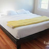 King Platform Bed Frame Diy Furnitureplans