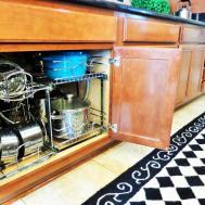 Kitchen Beautiful Countertop Storage Ideas Rack