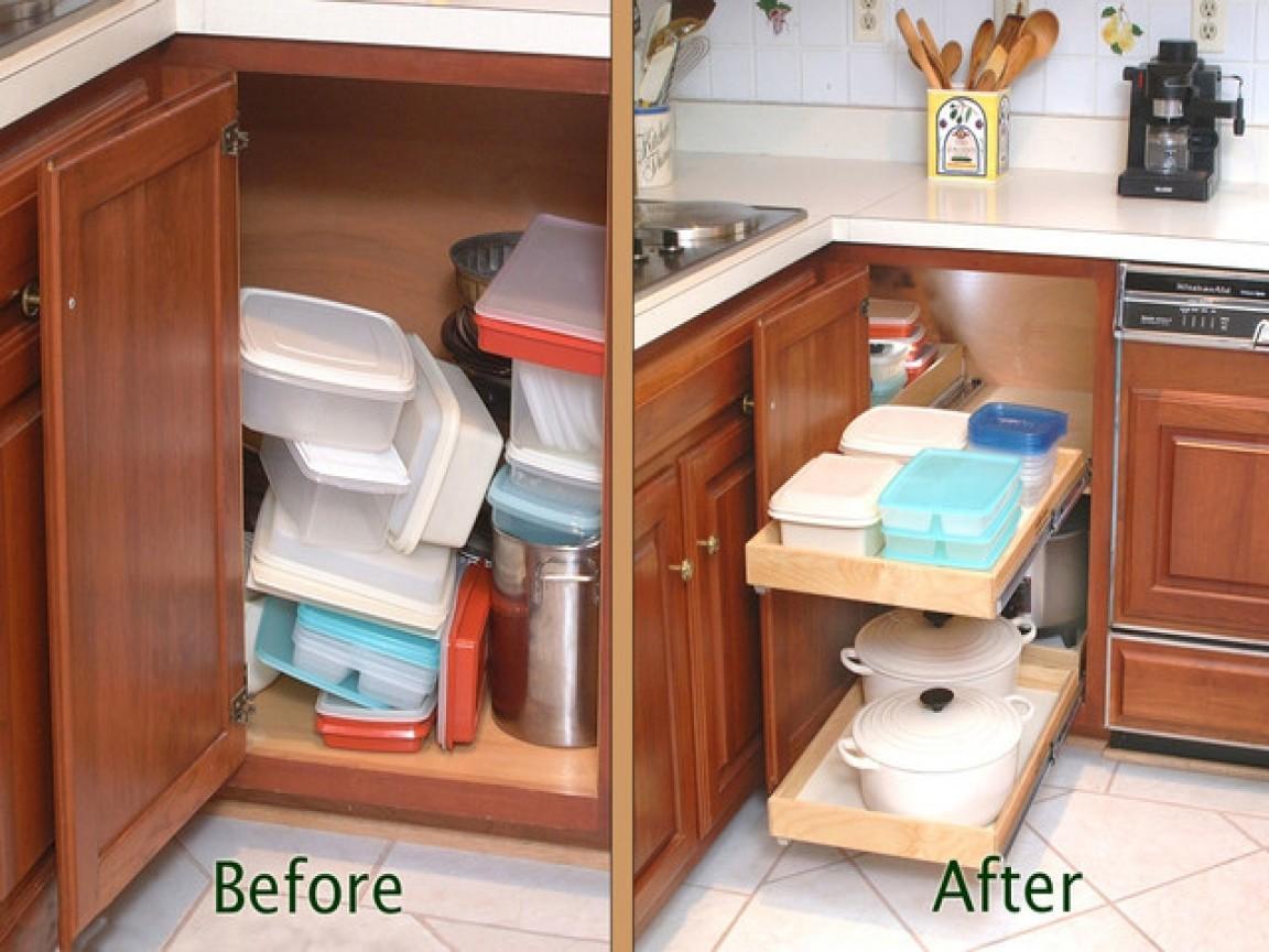 Kitchen Drawer Organization Blind Corner Cabinet Solution Decoratorist 48429