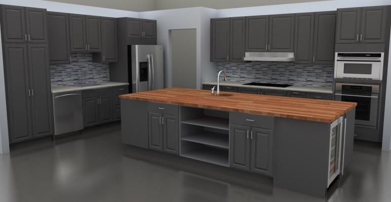 Kitchen Excellent Modern Gray Cabinets Ideas