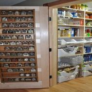 Kitchen Stainless Steel Floating Shelves Sunroom