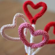 Knitted Hearts Bouquet Valentine Day Gift Diy Studio