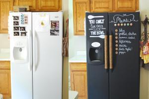 Kurtz Corner Diy Chalkboard Refrigerator