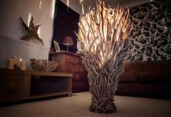 Large Driftwood Floor Lamp Celtic Coast Creations