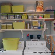 Laundry Room Shelf Rod Storage Diy