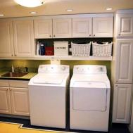 Laundry Room Storage Cabinets Standing Over