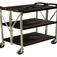 Laundry Storage Shelves Collapsible Folding Utility Cart