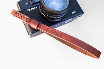 Leather Camera Wrist Strap Chestnut