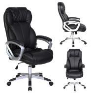 Leather Executive Office Chair Tilt Nylon Swivel High