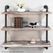 Level Rustic Industrial Diy Pipe Shelf Storage Vintage