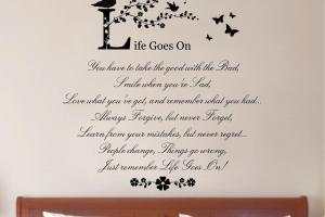 Life Goes Quote Vinyl Wall Art Sticker Decal Mural Home