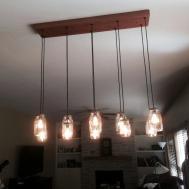 Light Diy Mason Jar Chandelier Rustic Cedar Wood
