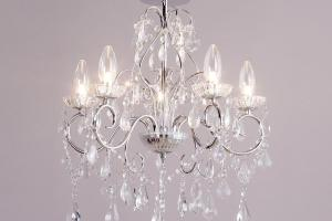 Light Modern Chrome Decorative Bathroom Chandelier