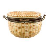 Limoges Basket Porcelain Box Decor Accessories