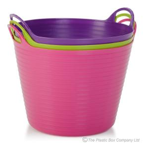 Litre Round Plastic Flexible Tub Wham Storage
