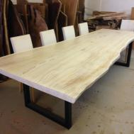 Live Edge Dining Table White Redwood