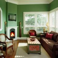 Living Room Design Corner Fireplace