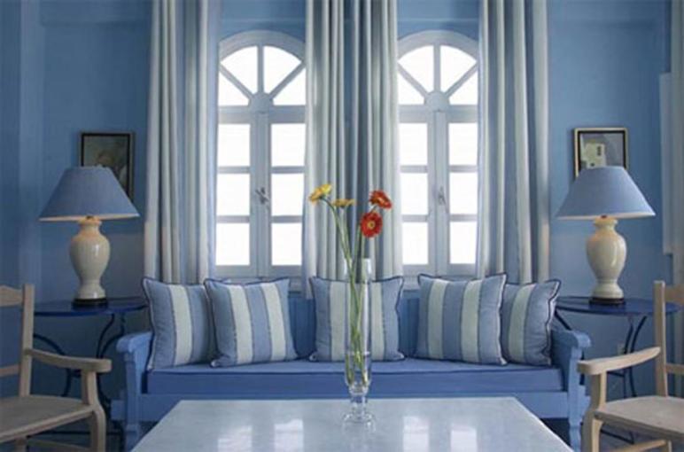 Living Room Traditional Blue Decor Ideas