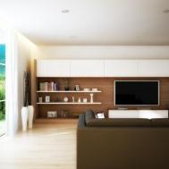 Long Wall Unit Interior Design Ideas