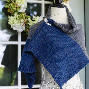 Loom Knit Wrap Pattern Cable Edge Knitting